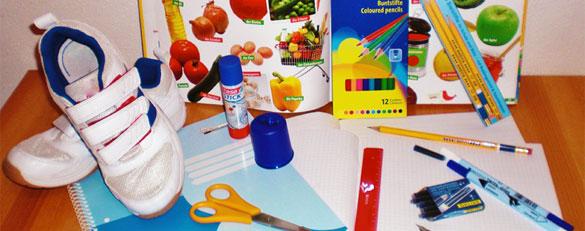Schulstarterpaket für Flüchtlingskinder in Augsburg